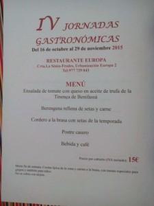IV Jornadas Gastronomicas